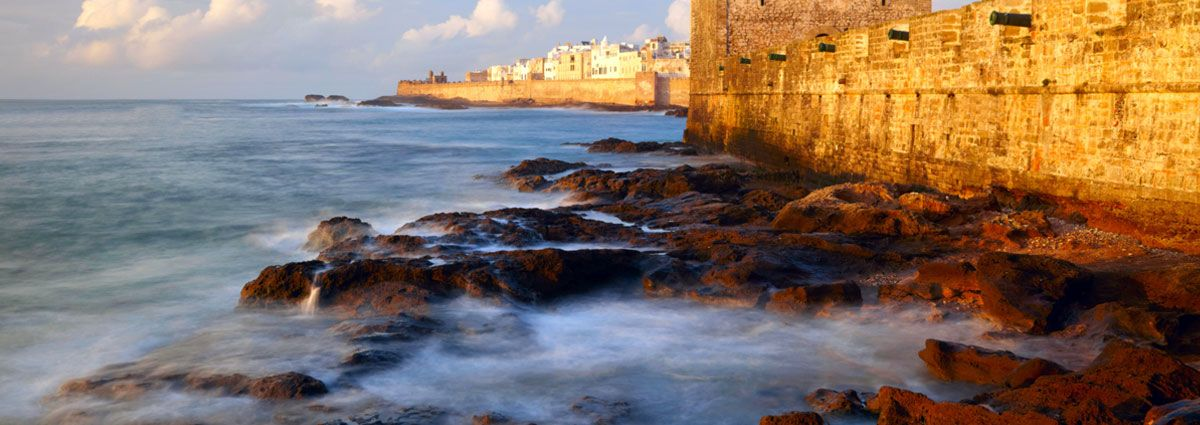 Image of a rocks shore in Essaouira