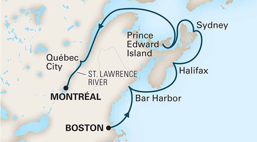 07 Nights New England - Canada  Cruise