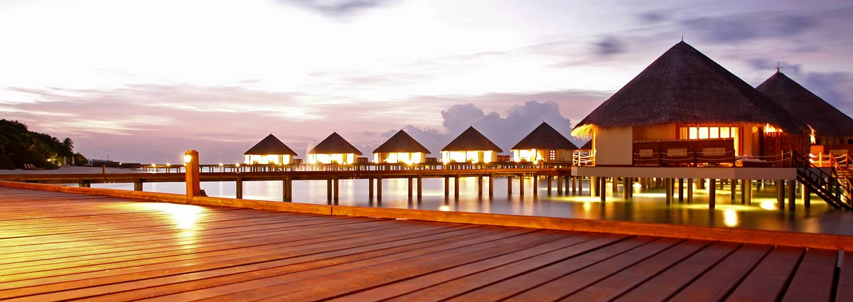 image of maldives resort