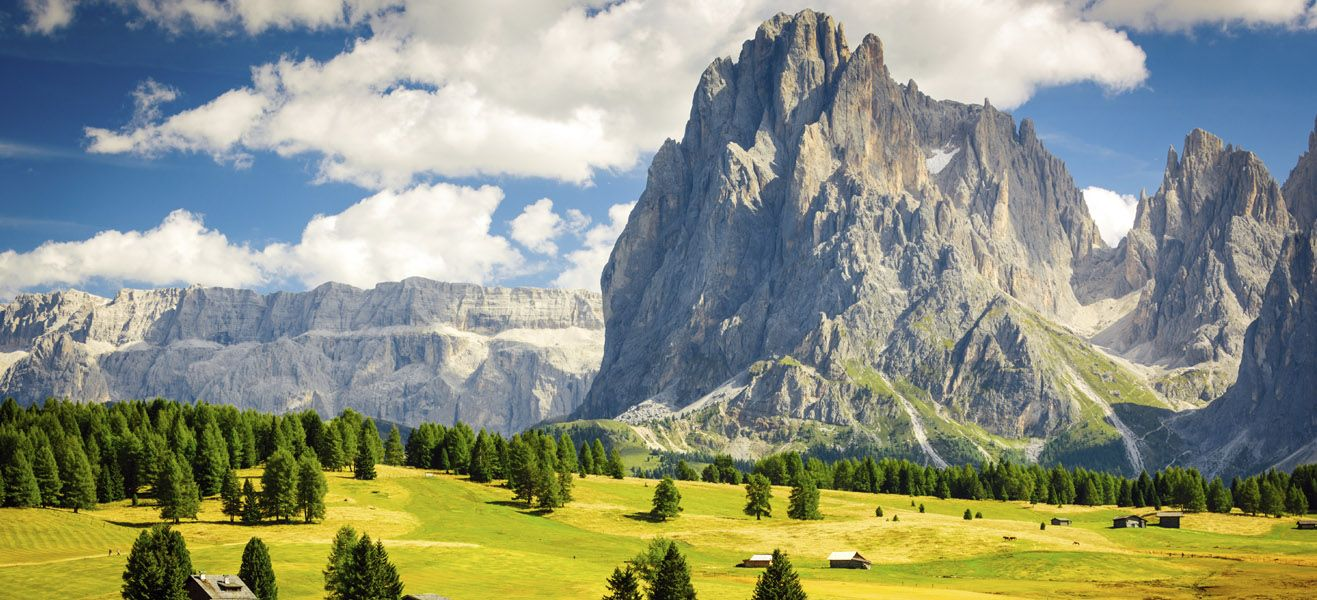 image of seiser alm alpine meadow in italy